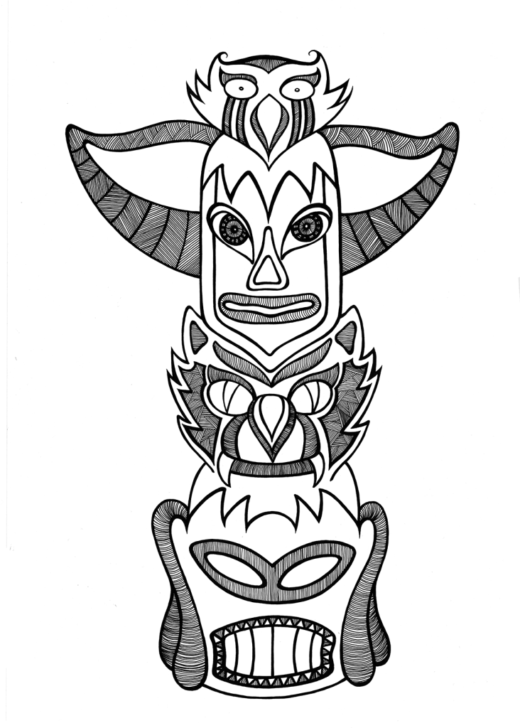 Totem illustration by Lorrie Whittington