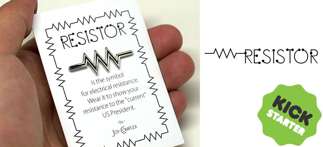 Resistor enamel pin