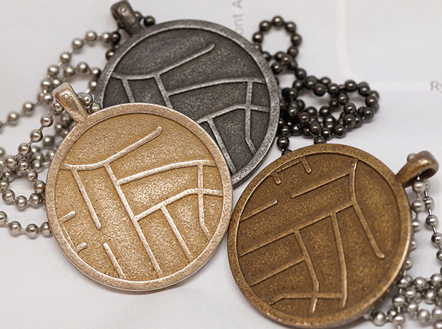 coordinate map necklace