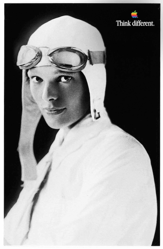Amelia Earhart Apple Poster