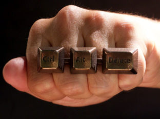 Ctrl+Alt+Del Statement Ring - computer jewelry, keyboard ring