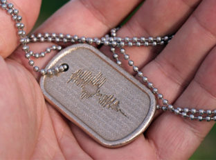 Custom Steel Dog Tag Sound Wave Necklace with ENGRAVED Wave Form | Personalized Jewelry #MadeFromSound