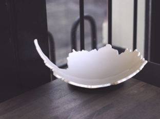 South Bowl - A Ceramic Bowl Shaped Like Antarctica
